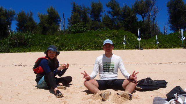 砂浜でまったりタイム