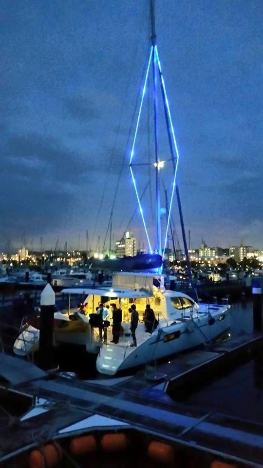 FUZZY(ヨット)のライトアップ