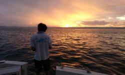 沖縄で早朝の沖釣り